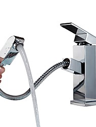 abordables -Baño grifo del fregadero / Conjunto de grifería - Nuevo diseño / Cool Cromo De Pie Sola manija Un agujero
