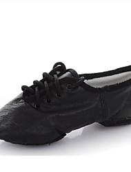 Недорогие -Жен. Обувь для джаза Свиная кожа На плоской подошве На плоской подошве Танцевальная обувь Черный / Красный