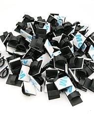 Недорогие -zdm 50 штук клеящие зажимы для кабелей зажимы для проводов кабельные провода для проводки кабельные держатели для зажимов кабельные стяжки для автомобильного офиса и дома