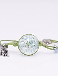 cheap -Women's Braided Pendant Bracelet - Flower Unique Design, Romantic Bracelet Green / Pink / Light Blue For Gift / Holiday