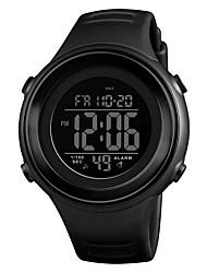 Недорогие -SKMEI Муж. Спортивные часы Наручные часы электронные часы Японский Цифровой Стеганная ПУ кожа Черный / Синий / Зеленый 50 m Защита от влаги Будильник Календарь Цифровой На каждый день Мода -