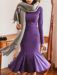 Недорогие -Жен. На выход Тонкие Оболочка Платье Средней длины