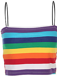 cheap -Women's Basic Tank Top - Rainbow Print