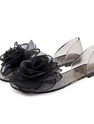 Недорогие -Жен. Комфортная обувь ПВХ Лето На плокой подошве На низком каблуке Черный / Темно-синий / Розовый