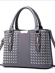 cheap -Women's Bags PU(Polyurethane) Shoulder Bag Zipper Dark Blue / Purple / Light Grey