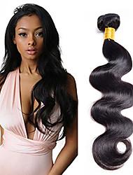 Недорогие -1 комплект Индийские волосы Естественные кудри Классика Натуральные волосы Человека ткет Волосы 10-20 дюймовый Ткет человеческих волос Расширения человеческих волос / 8A