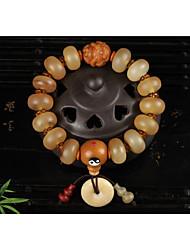 cheap -Women's Braided / Beads Strand Bracelet / Pendant Bracelet - Resin Monkey, Gourd Stylish, Vintage, Ethnic Bracelet Light Yellow For Date / Festival
