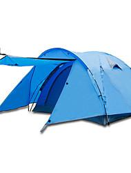 Недорогие -BSwolf 3 человека Семейный кемпинг-палатка На открытом воздухе С защитой от ветра, Дожденепроницаемый, Воздухопроницаемость Двухслойные зонты Карниза Палатка 2000-3000 mm для Рыбалка Восхождение Пляж