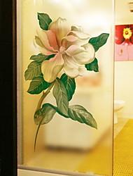 cheap -Window Film & Stickers Decoration Ordinary Floral PVC(PolyVinyl Chloride) Window Sticker