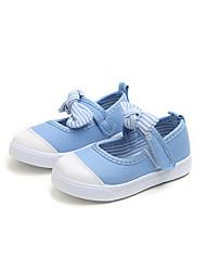 preiswerte -Mädchen Schuhe Leinwand Herbst / Frühling Sommer Komfort Flache Schuhe Walking Schleife für Kinder / Baby Blau / Rosa / Hellblau / Booties / Stiefeletten