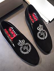 """Недорогие -Муж. Кожаные ботинки Наппа Leather Весна & осень Деловые / Стиль """"Школьная форма"""" Мокасины и Свитер Нескользкий Лозунг Черный / Для вечеринки / ужина"""