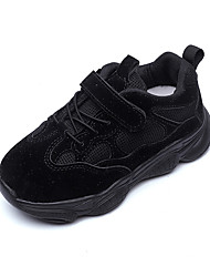 cheap -Girls' Shoes Mesh Fall & Winter Comfort Sneakers Walking Shoes Buckle for Kids Black / Beige / Pink / Color Block
