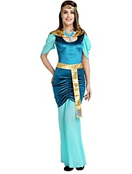 cheap -Egyptian Costume Outfits Women's Halloween / Carnival / Children's Day Festival / Holiday Halloween Costumes Cyan Solid Colored / Halloween Halloween