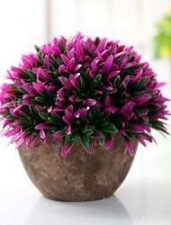 Недорогие -Искусственные Цветы 1 Филиал Классический Сценический реквизит / Простой стиль Pастений / Ваза Букеты на пол