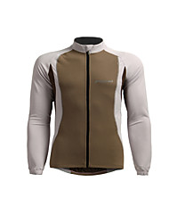 cheap -Jaggad Long Sleeve Cycling Jersey - Silver / Khaki Bike Breathable / Stretchy
