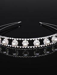 abordables -Cristal / Imitation de perle / Alliage Diadèmes / Casque avec Cristal / Détail Cristal 1 Pièce Mariage / Anniversaire Casque