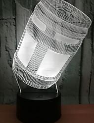 baratos -1pç Luz noturna 3D USB Controlado remotamente / Com porta USB <5 V