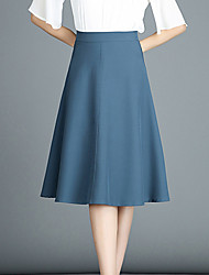 cheap -Women's Basic A Line Skirts - Solid Colored