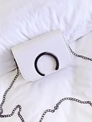 cheap -Women's Bags PU(Polyurethane) Mobile Phone Bag Buttons White / Black / Gray