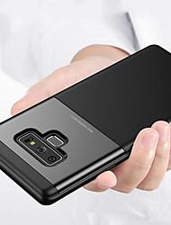 Недорогие -Кейс для Назначение SSamsung Galaxy Note 9 Рельефный Кейс на заднюю панель Однотонный Твердый ПК для Note 9