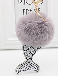 abordables -Poissons Porte-clés Violet / Rouge / Rose Irrégulier, Sirène Fourrure de Lapin, Alliage Doux, Mode Pour Cadeau / Quotidien