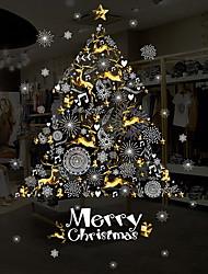 Недорогие -Оконная пленка и наклейки Украшение Рождество Праздник ПВХ Глянцевый / Стикер на окна