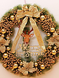 Недорогие -Гирлянды Праздник деревянный Круглый деревянный Рождественские украшения