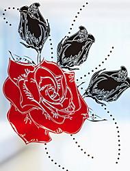 Недорогие -Оконная пленка и наклейки Украшение С цветами / Простой Цветы ПВХ Новый дизайн