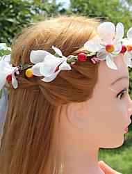 baratos -Organza com Flor / Vime 1pç Casamento / Ao ar livre Capacete