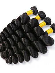 Недорогие -4 Связки Малазийские волосы Свободные волны 8A Натуральные волосы Необработанные натуральные волосы Подарки Человека ткет Волосы Сувениры для чаепития 8-28 дюймовый Естественный цвет
