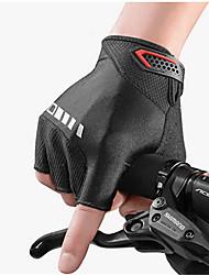 Недорогие -ROCKBROS Спортивные перчатки Перчатки для велосипедистов Противозаносный / Пригодно для носки / Дышащий Без пальцев Кожа / Силикон / силикагель Велосипедный спорт / Велоспорт Муж.