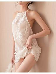 abordables -Nuisette & Culottes / Chemises & Blouses Vêtement de nuit Femme - Fleur, Couleur Pleine / Broderie