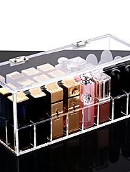 Недорогие -Место хранения организация Ювелирная коллекция Акрил Прямоугольная форма Открытая крышка