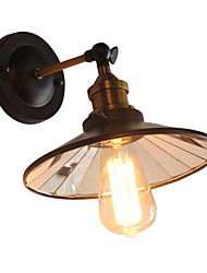 cheap -Metal Mirror Glass Wall Sconces Industrial Wall Light Vintage Edison Simplicity Lamp For Cafe Club Bar Lighting