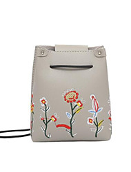 cheap -Women's Bags PU(Polyurethane) Mobile Phone Bag Embroidery Beige / Gray / Brown