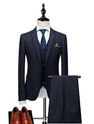 cheap -Men's Suits-Plaid Peaked Lapel / Long Sleeve