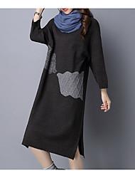 baratos -Mulheres Para Noite Delgado Tricô Vestido Altura dos Joelhos