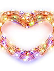 abordables -zdm usb fil de cuivre lumières guirlande fée 5m / 16.5ft 50leds avec 7 couleurs différentes changement de couleur RVB automatiquement étanche chaîne de lampe décorative de vacances (changement de coul
