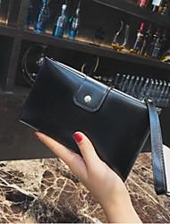 Недорогие -Жен. Мешки PU Мобильный телефон сумка Пуговицы Черный / Розовый / Коричневый