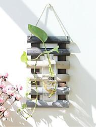 Недорогие -Искусственные Цветы 0 Филиал Классический / С креплением на стену Деревня / Простой стиль Ваза Цветы на стену