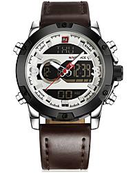 Недорогие -NAVIFORCE Муж. Нарядные часы Наручные часы Японский Японский кварц 30 m Защита от влаги Новый дизайн Хронометр Нержавеющая сталь Группа Аналого-цифровые На каждый день Мода Черный / Белый / Коричневый