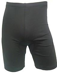 baratos -Homens Bermudas Acolchoadas Para Ciclismo Moto Shorts / Shorts Roupa interior / Shorts Acolchoados Respirável, Tapete 3D, Secagem Rápida Sólido Elastano, Lycra Cinzento Escuro Intermediário Ciclismo