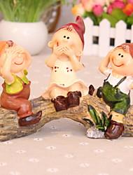 baratos -1pç Resina / Madeira Estilo Europeu para Decoração do lar, Home Decorações Presentes