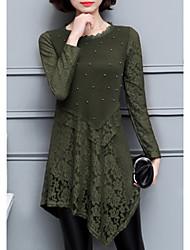 Недорогие -Жен. Классический / Элегантный стиль Тонкие Оболочка Платье Ассиметричное