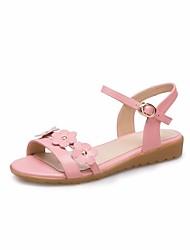 levne -Dívčí Boty Kůže Léto Pohodlné / Boty pro malé družičky Sandály pro Bílá / Růžová