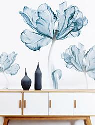Недорогие -Декоративные наклейки на стены - Простые наклейки Цветочные мотивы / ботанический Спальня