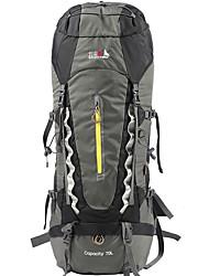 economico -BSwolf 70 L Zaino per escursioni - Anti-pioggia, Indossabile, Traspirabilità Esterno Escursionismo, Campeggio, Viaggi Nylon, Oxford Nero, Blu