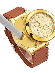 cheap -Men's Wrist Watch Japanese Chronograph / Creative / New Design Rubber Band Luxury / Bangle Black / Brown
