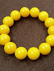 cheap -Men's Beads Strand Bracelet - Creative, Ball Asian, Simple, Ethnic Bracelet Yellow For Daily / Street