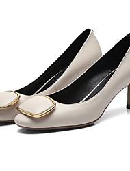 cheap -Women's Nappa Leather Fall Basic Pump Heels Stiletto Heel Black / Red / Blue